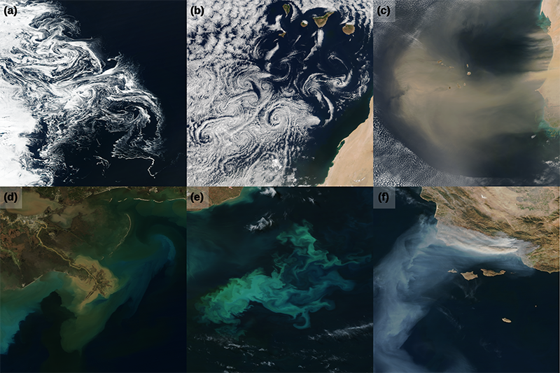 Samples of VIIRS true-color satellite images from around the world