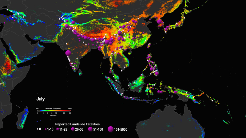A new model combines susceptibility information with precipitation data to predict the potential for rainfall-triggered landslides.