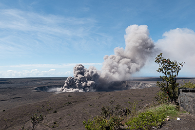 Kilauea ash plume from May 2018