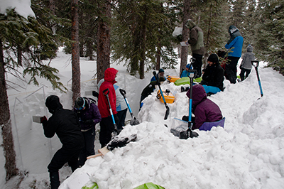 In February 2017, nearly 100 SnowEx researchers measured snow characteristics in western Colorado.