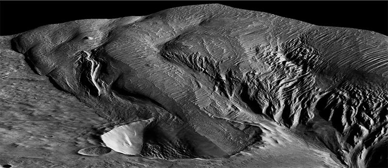 Crater near Medusa Fossae Formation