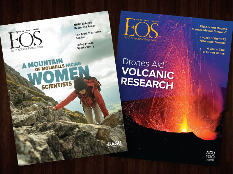 Two award-winning Eos covers.