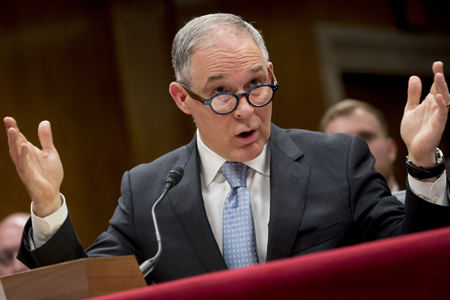 At a 16 May 2018 hearing, EPA administrator Scott Pruitt faced intense criticism from Democrats over ethics allegations.