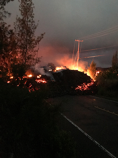 Lava flow from Kilauea on 1 June 2018