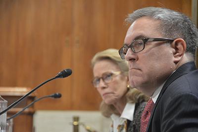 Andrew Wheeler at his 7 November 2017 Senate confirmation. Wheeler will be acting head of EPA starting 9 July.