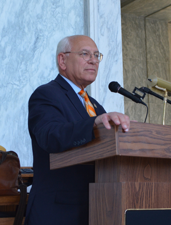 Rep. Paul Tonko speaks at the 2018 Congressional Clean Energy Expo and Policy Forum on 10 July.