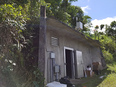 Instruments at one GSN station, including a newly installed infrasound sensor, captured the passage of Hurricane Maria.
