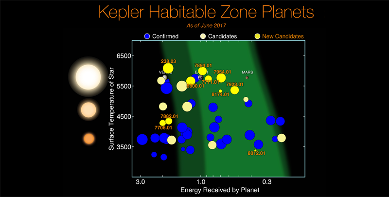 Small and rocky habitable zone exoplanets from Kepler