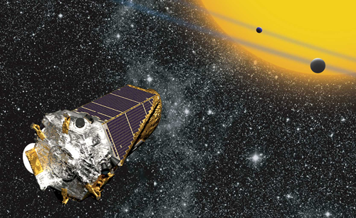 The Kepler Space Telescope observing transiting exoplanets