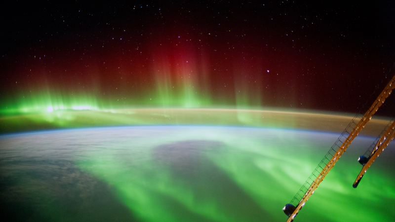 Aurora observed from the International Space Station in September 2014.