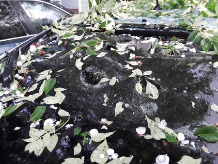 Car damage from hail