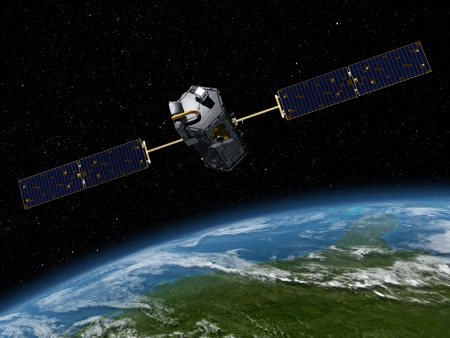 Artist's rendition of NASA's Orbiting Carbon Observatory-2