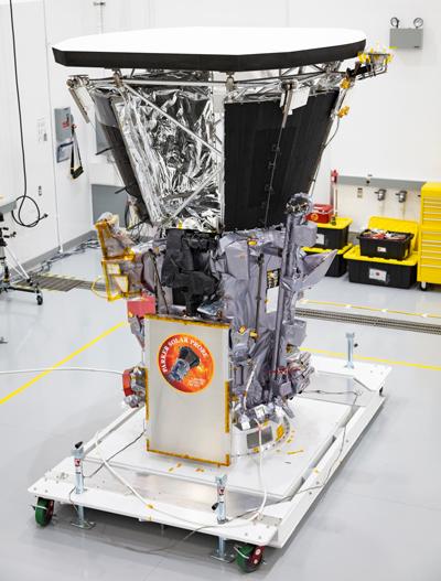 Parker Solar Probe after heat shield installation