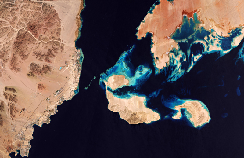 The Gulf of Aqaba, Egypt, and Saudi Arabia