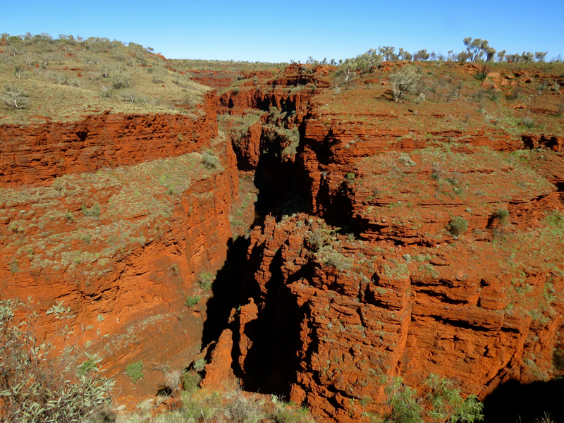 A banded iron formation in Australia