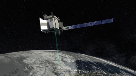 Artist's rendering of ICESat-2