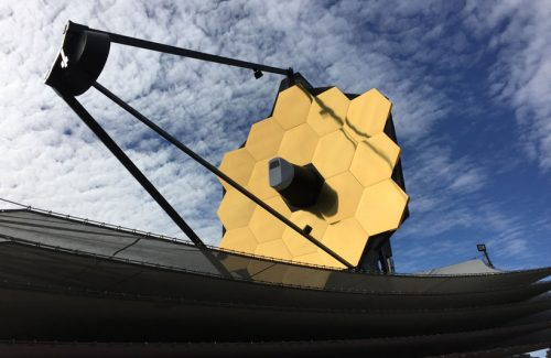 Full-scale model of the James Webb Space Telescope