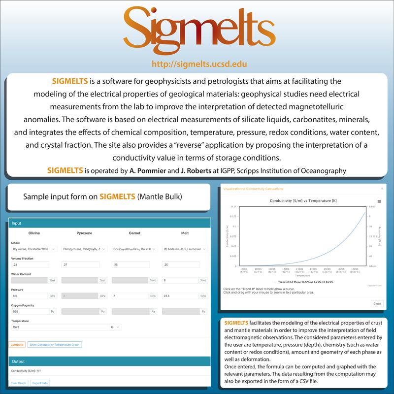 Web interface of SIGMELTS 2.0.