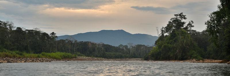 Pantiacolla Ridge and Palotoa River in Peru