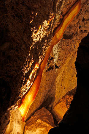 A 3-meter-long slice of cave bacon in Jewel Cave National Monument, Wyo.