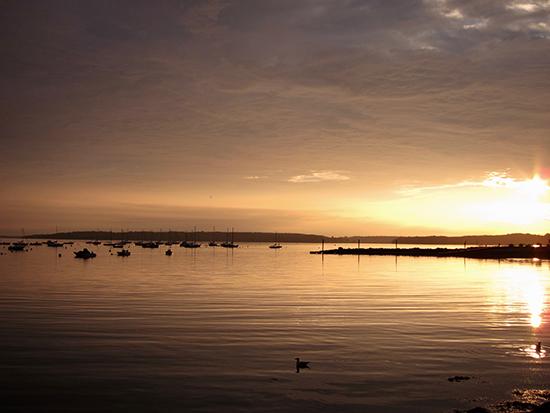 Sunrise over the Gulf of Maine, in Portland.
