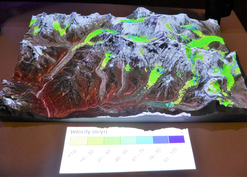 3-D model for glacier project.