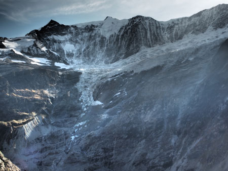 Unterer Grindelwald glacier in Switzerland