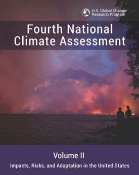 The cover of a newly released U.S. government report on climate risks