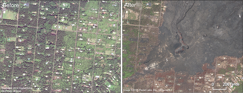 Fast, hot lava flows from the extraordinary 2018 Kīlauea eruption destroyed more than 700 homes.