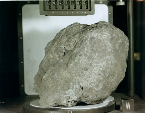 "Apollo 14 breccia 14321, nicknamed ""Big Bertha."""
