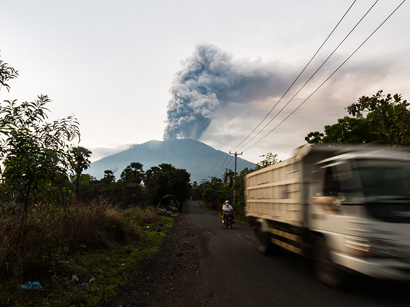 Forensic Probe Of Bali S Great Volcano Eos