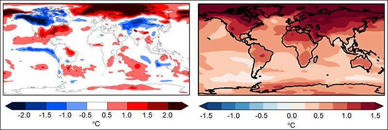 Surface temperature and precipitation predictions