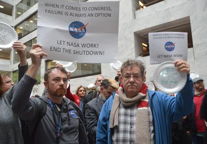 NASA scientists protest government shutdown