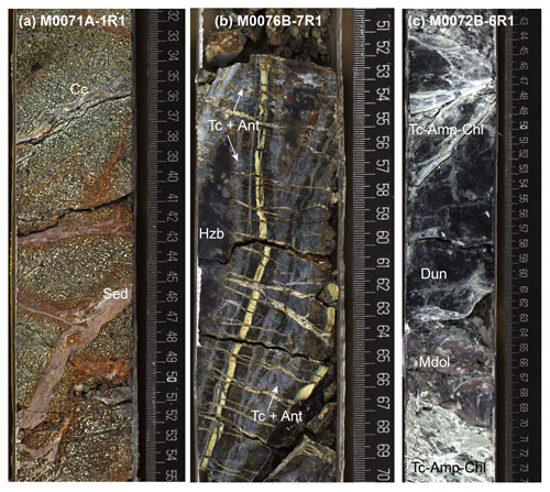 Core samples reveal magmatism and alteration during plate spreading and detachment faulting at Atlantis Massif.
