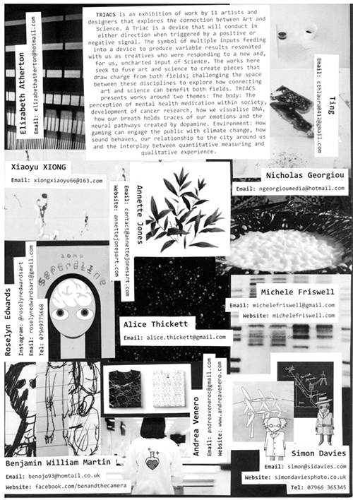 Zine for 2018 SciArt exhibition