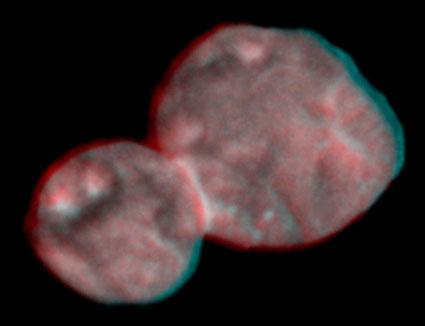 Stereographic image of MU69