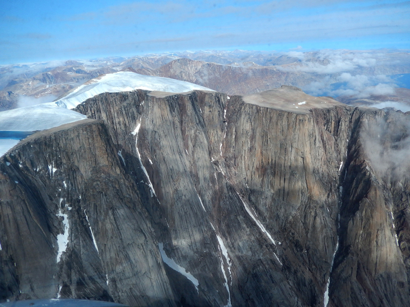 An ice cap on Baffin Island