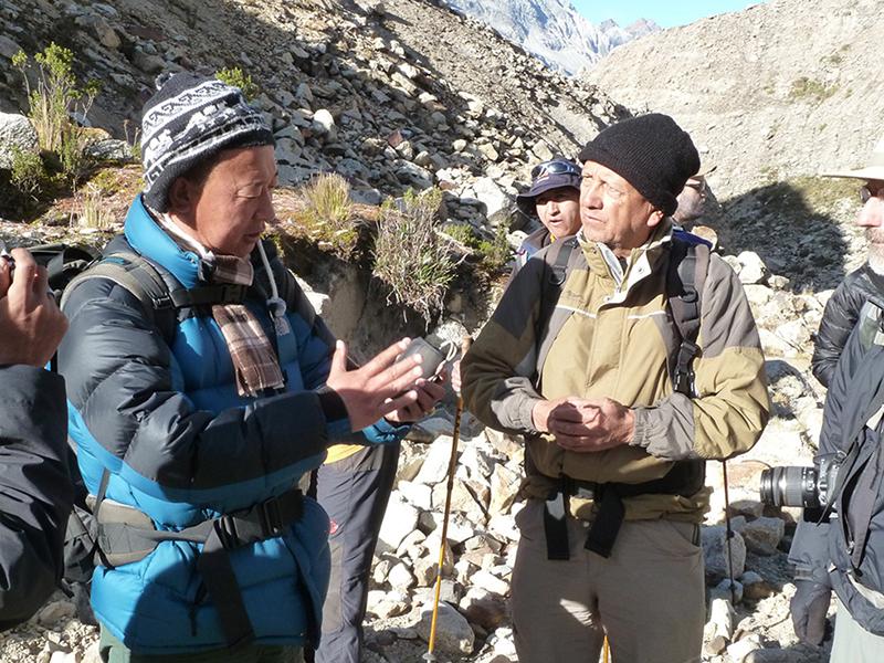 César Portocarrero Rodríguez and Karma Toeb GLOF mitigation Bhutan Nepal