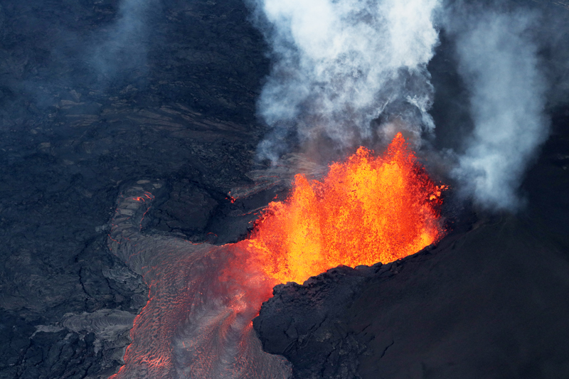 The Kīlauea volcano on the Big Island in Hawaii