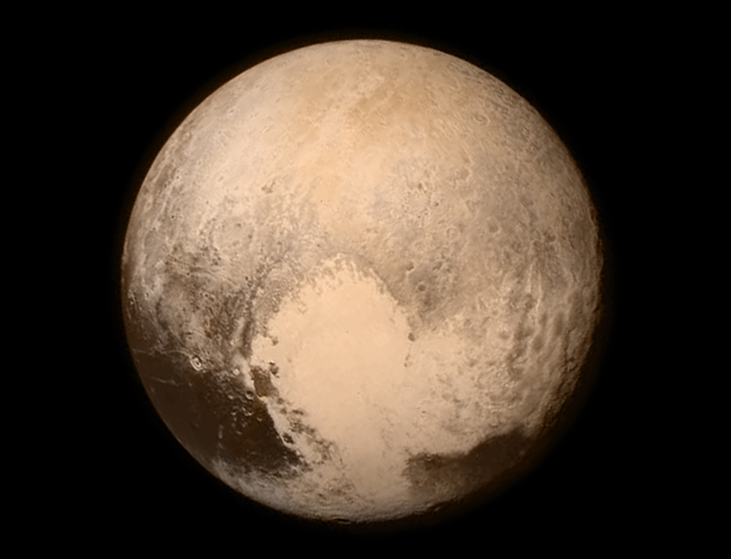 Heart-shaped plane on Pluto