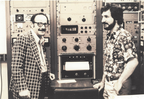 [Left] Jerry Wasserburg and Don DePaolo in 1976 with the Lunatic 1 mass spec used to date Moon rocks.