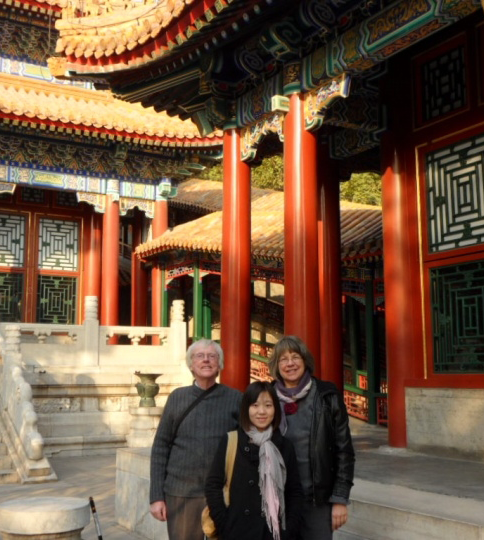 Yingying Yao, center, acted as a tour guide for Mary Anderson and her husband when they visited China.