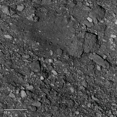 A candidate sample selection site in Bennu's northern hemisphere