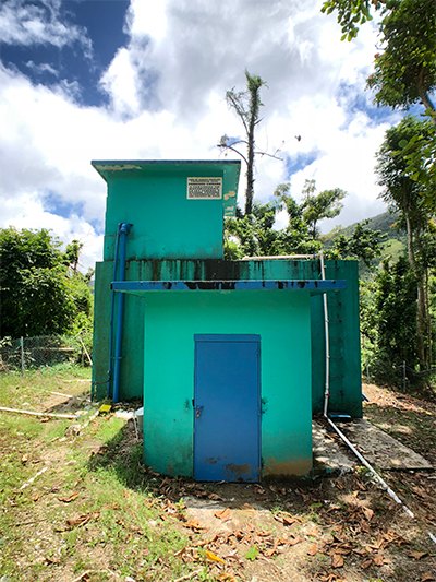 Hurricane Maria severely affected water treatment plants across Puerto Rico, like the one shown here.