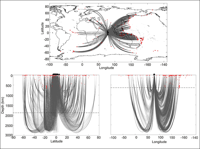 Locations of teleseismic earthquakes recorded by the Global Seismographic Network, USGS, from May 2018 to December 2018