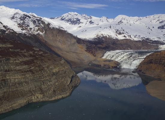 The Taan fiord landslide close up.