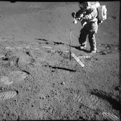 Apollo 17 sample collection with amino acids
