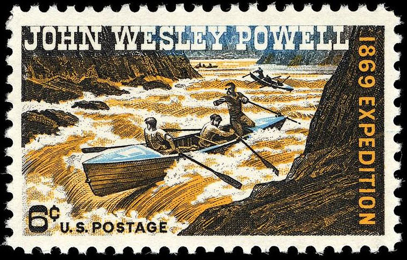 U.S. postage stamp commemorating 1869 expedition of John Wesley Powell