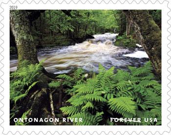 Ontonagon River on a U.S. postage stamp