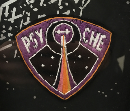 Embroidered patch of Psyche mission logo